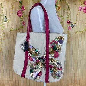 Coach Poppy Butterfly Glam Tote Limited Edition